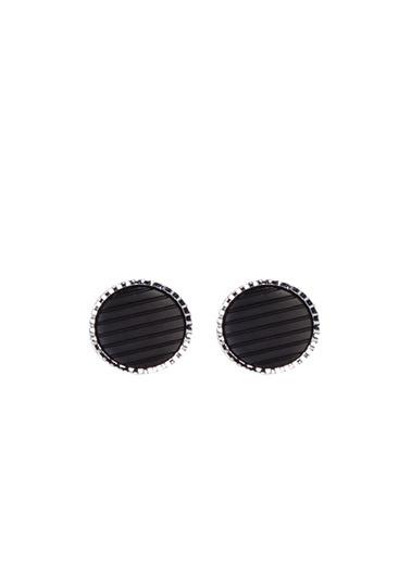 Kiğılı Kol Düğmesi Siyah